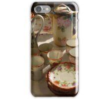 Tea Set At A Sale iPhone Case/Skin