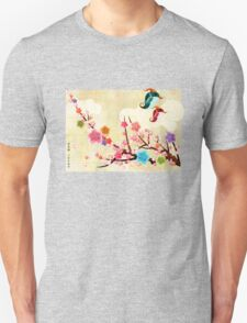 Peach Blossoms and Birds T-Shirt