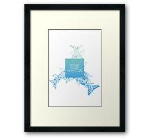 AZTECSURF TAILS POSTER Framed Print