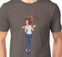 Girl in Casual Style  2 Unisex T-Shirt