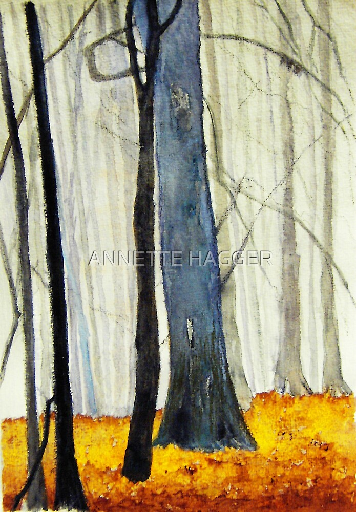 My interpretation of Misty Beech Woods 2 by ANNETTE HAGGER