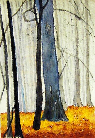 My interpretation of Misty Beech Woods 2 by ANNETTE HAGGER