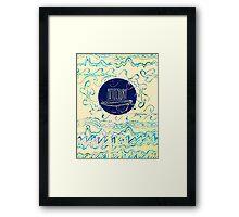 AZTECSURF TIDAL POSTER Framed Print