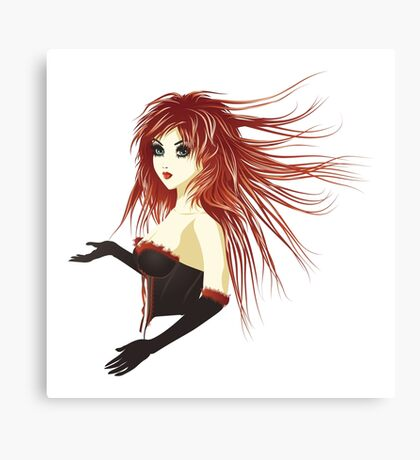 Girl in corset Canvas Print