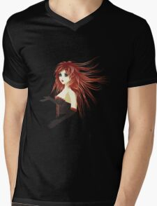Girl in corset Mens V-Neck T-Shirt