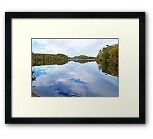 Earth Above and Sky Below Framed Print