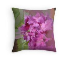 Abstract of deep pink rhodie Throw Pillow
