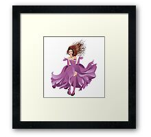 Girl in Flowing Dress 2 Framed Print