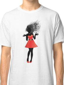 Girl in red dress Classic T-Shirt