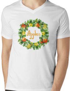 Ripe apples Mens V-Neck T-Shirt