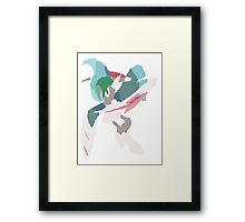 Rhys' Mega Gallade (No outline) Framed Print