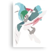 Rhys' Mega Gallade (No outline) Canvas Print
