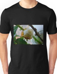 Fading white rose 3 Unisex T-Shirt