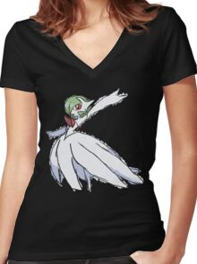 Rhys' Mega Gardevoir Women's Fitted V-Neck T-Shirt