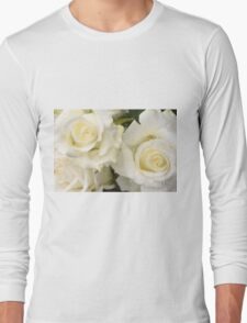 Close up of white roses Long Sleeve T-Shirt