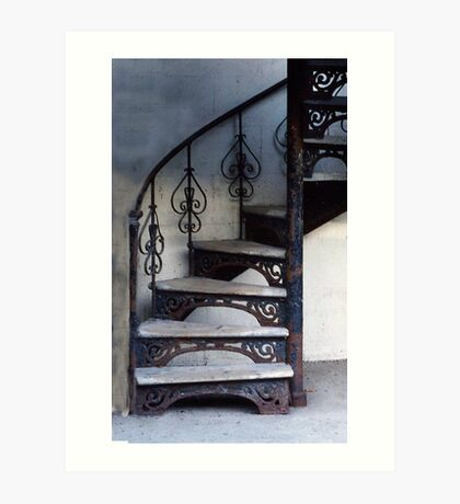 Stairway in Old Quebec Art Print