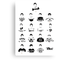 The Greatest Riders - Bici* Legendz Collection Canvas Print