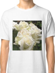 Close up of white roses 2 Classic T-Shirt