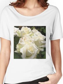 Close up of white roses 2 Women's Relaxed Fit T-Shirt