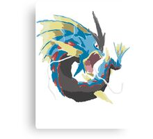 Derek's Mega Gyarados (No outline) Canvas Print