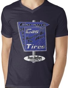 Cotswolds garage by Rogers Brothers Mens V-Neck T-Shirt