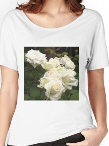 Close up of white roses 3 Women's Relaxed Fit T-Shirt