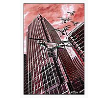 Red swarm over Canary Wharf by #fftw Photographic Print