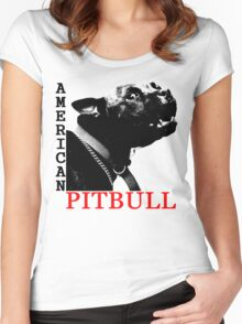 american pitbull terrier Women's Fitted Scoop T-Shirt