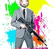 Hotline Miami - Graham the Rabbit Mask by StrawberryMo
