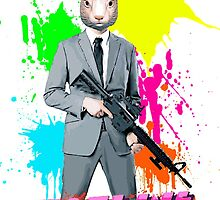 Hotline Miami - Graham the Rabbit Mask by StrawberryMo