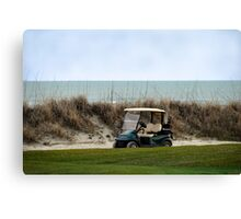 Golf Cart, The Ocean Course, Kiawah Island, South Carolina Canvas Print