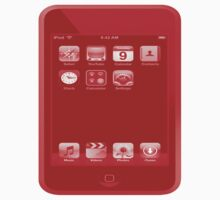 Red Ipod Touch by Rebecca Kingston