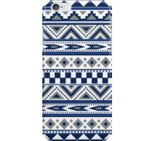 Geometric pattern Navy and silver iPhone Case/Skin