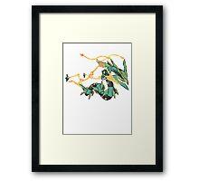 Owain's Mega Rayquaza Framed Print