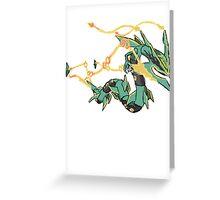Owain's Mega Rayquaza Greeting Card