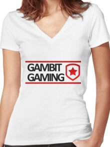Gambit Gaming Women's Fitted V-Neck T-Shirt
