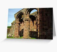HOLY ISLAND, Lindisfarne Abbey Greeting Card