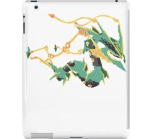 Owain's Mega Rayquaza (No outline) iPad Case/Skin