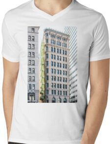 Green Balconies on Classic Architecture Mens V-Neck T-Shirt