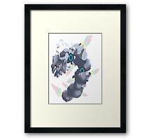 Becca's Mega Steelix (No outline) Framed Print