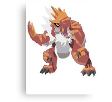 Derek's Tyrantrum (No outline) Canvas Print