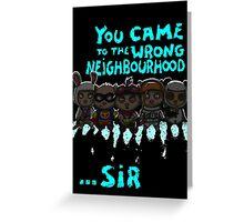 The Thug Life Greeting Card