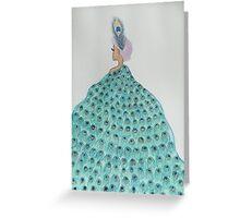 Peacock Lady  Greeting Card