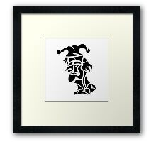 harlequin tattoo turned to left Framed Print