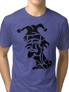 harlequin tattoo turned to left Tri-blend T-Shirt