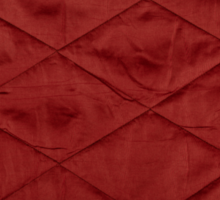 Red quilted material texture abstract Sticker