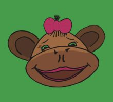 cartoon style monkey head Baby Tee