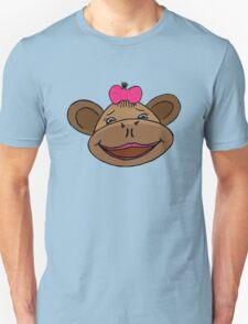 cartoon style monkey head T-Shirt