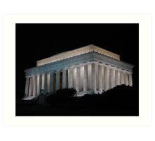 Lincoln Memorial  night Art Print
