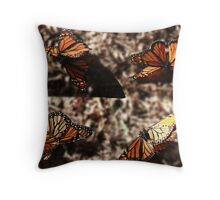 Dance of the Monarchs Throw Pillow